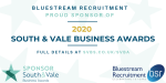 Proud Sponsor of South Vale Business Awards 2020